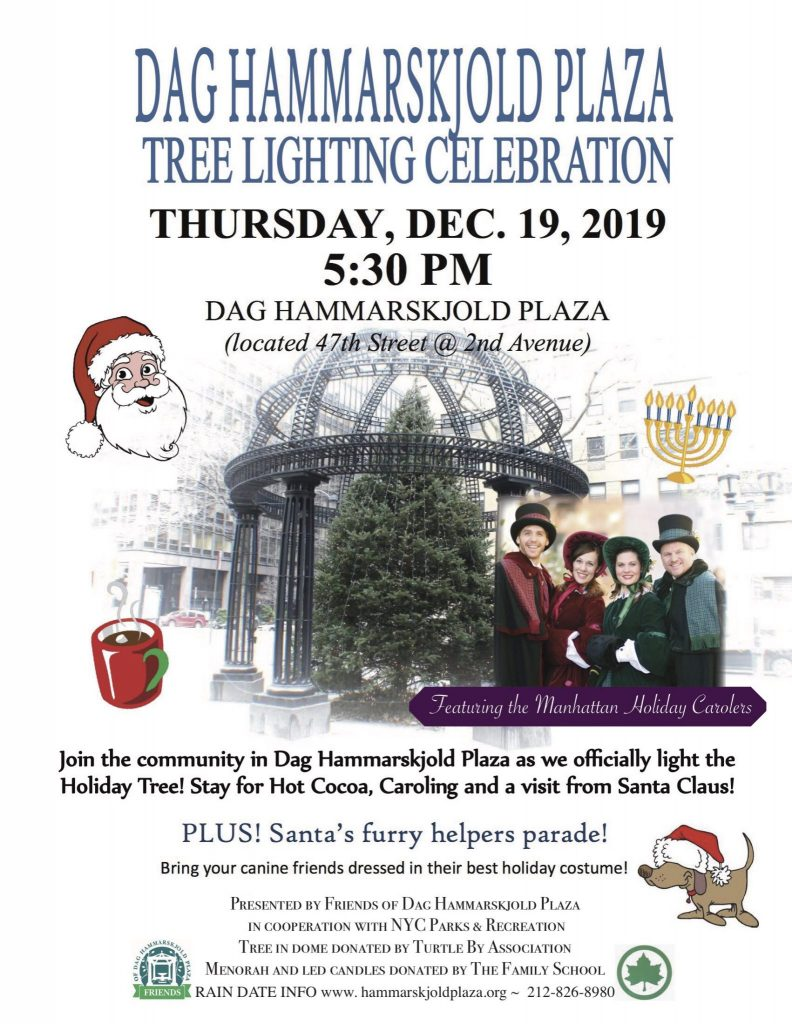 Our annual tree lighting ceremony in Dag Plaza starts at 5:30 PM. Enjoy the Manhattan Holiday Carolers and if you have a doggie, dress in festive garb for the Pooch Parade. Free sweets and cocoa.